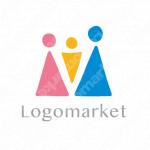 家族と愛情と繋がりのロゴ