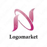 Nと曲線と円のロゴ
