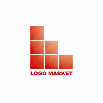 Lとブロックとシンプルのロゴ