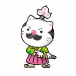猫と侍と歴史のロゴ