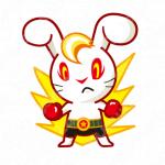うさぎとボクシングと格闘技のロゴ