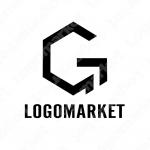 Gと六角形のロゴ