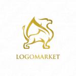 高級と洗練と獅子のロゴ