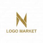Nとシンプルと黄金比のロゴ