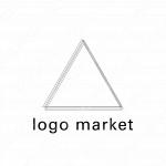 三角とラインと シンプルのロゴ
