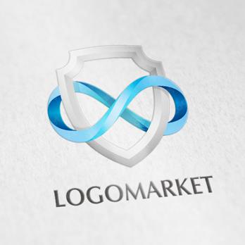 無限と盾と未来のロゴ