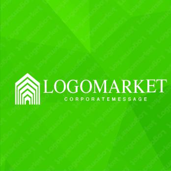 家と住宅とブランドのロゴ
