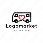 車とハートと真心のロゴ