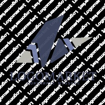 折り紙とモダンと和のロゴ