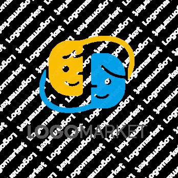 支援とSと顔のロゴ