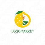 果物と農園と自然のロゴ