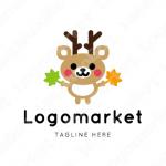 鹿と紅葉とキャラクターのロゴ