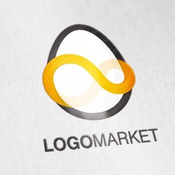 卵と無限とフラットのロゴ