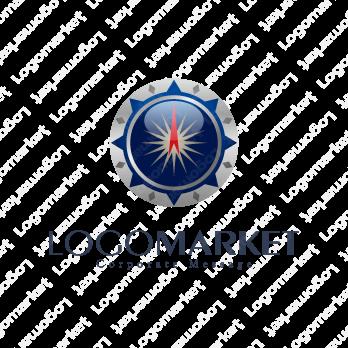 羅針盤とコンパスとパートナーシップのロゴ