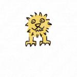 暖かみとライオンとキャラクターのロゴ