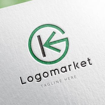 Kと矢印と前進のロゴ