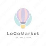 気球と浮遊と優しいのロゴ