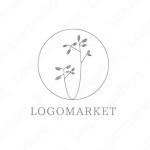 シンプルミニマルと優しさとお花のロゴ