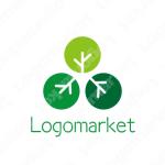 シンプルと木と森のロゴ