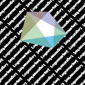 虹と宝石とカラフルのロゴ