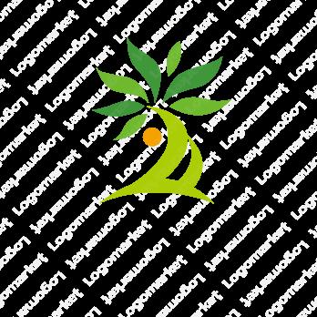 木と生命力と人のロゴ