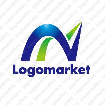 Nと山と頂点のロゴ