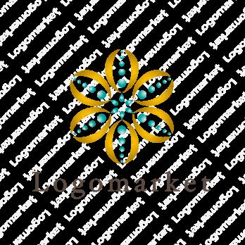 花と輝くとエレガントのロゴ
