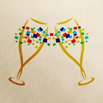 酒とアルコールとビールのロゴ