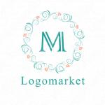 豪華と飾り罫とMのロゴ