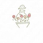 花々とFLOWERと暖かみのロゴ