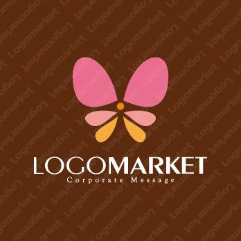 蝶と愛情と安心のロゴ