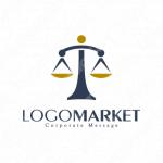 天秤ばかりと法律と正義のロゴ