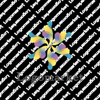 花と未来的と透明感のロゴ