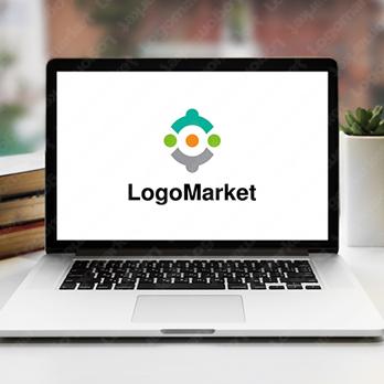 助け合いと繋がりとコミュニティのロゴ